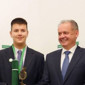 OndrejVrabel_with_Slovak_president_AndrejKiska